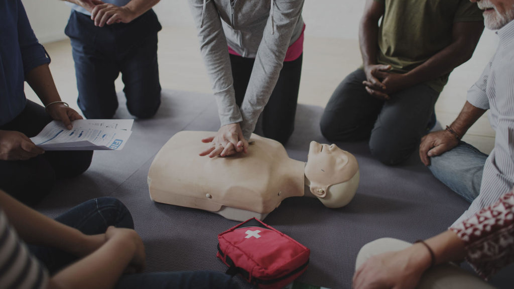 CPR training on campus