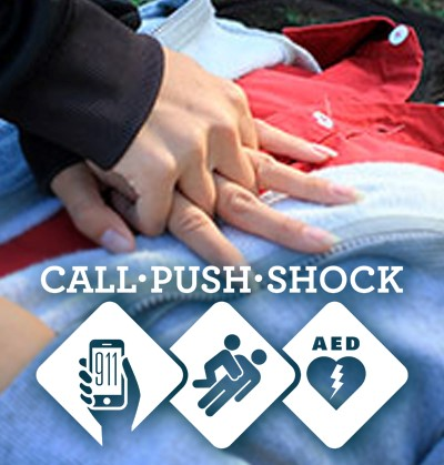 Anyone can save a life. Call-Push-Shock.