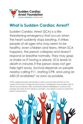 Tested definition of sudden cardiac arrest