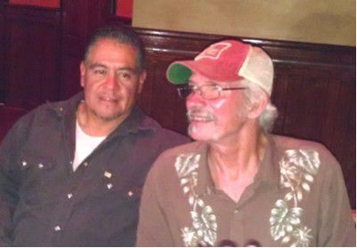 Survivor Bob Reed with rescuer Roland Duran