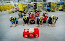 Amazon drivers learning CPR