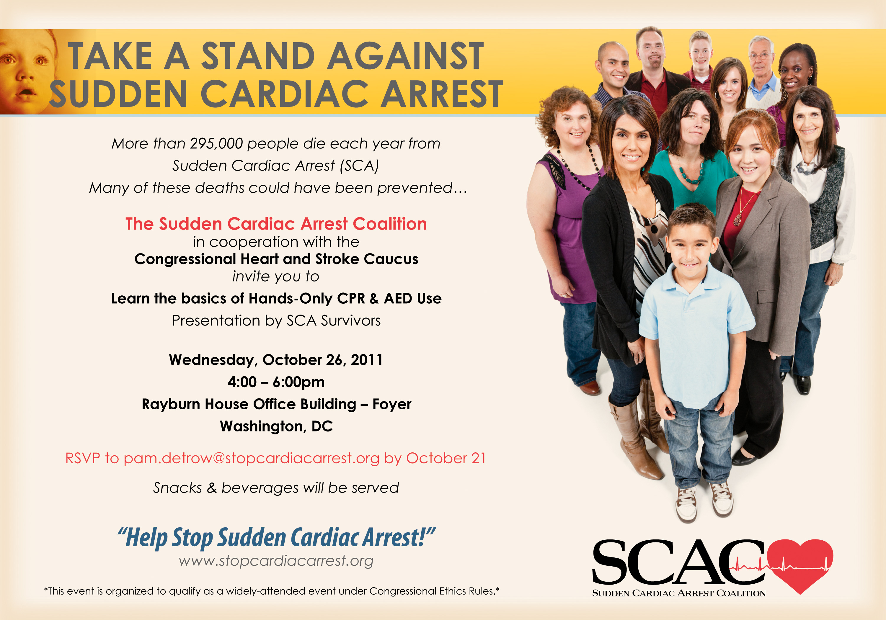 Take a Stand Against Sudden Cardiac Arrest