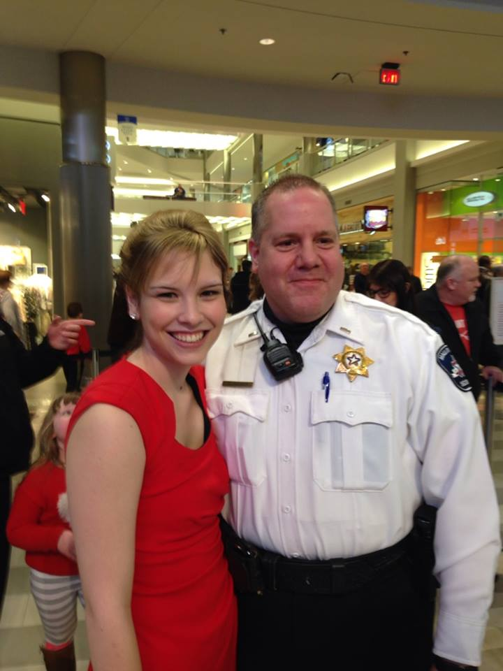 Jamie LaLonde and security guard, Scott, who saved her life