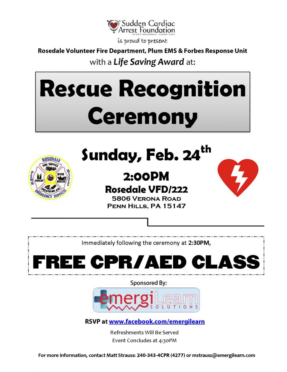 Rescuer Recognition Ceremony
