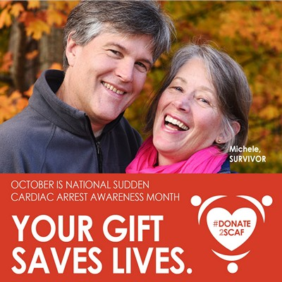 October is Sudden Cardiac Arrest Awareness Month